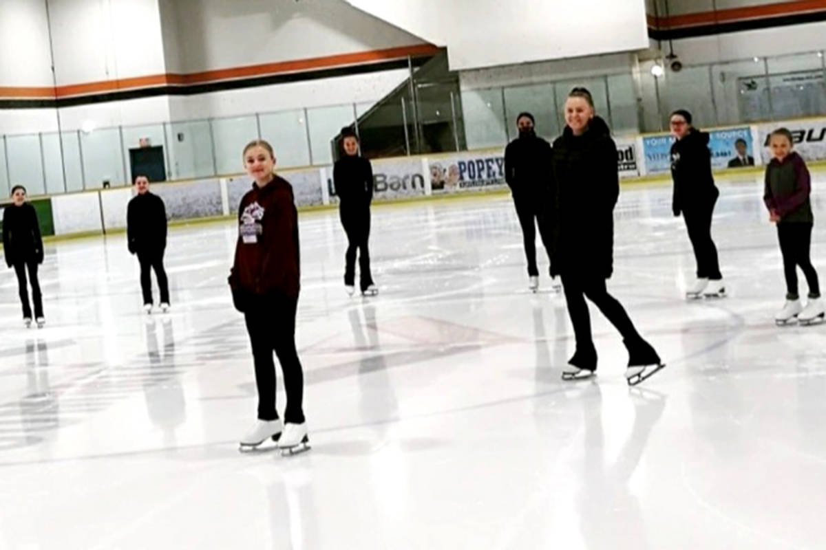 Aldergrove skaters have just gotten back onto the ice after a very long wait due to COVID restrictions. (Kayla Lomas/Special to the Aldergrove Star)