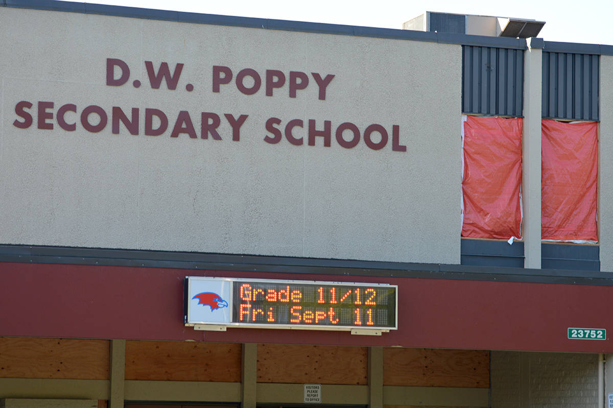 Windows not ready at Langley school, despite students returning to the classroom
