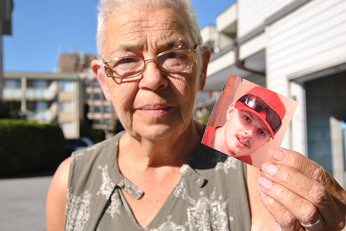 Langley City's Crystal Austin is very grateful to the trauma team who worked to save her grandson (in picture), Nick Sowinski. He was injured when he and his bicycle were hit in Brookswood Tuesday night. (Roxanne Hooper/Langley Advance Times)