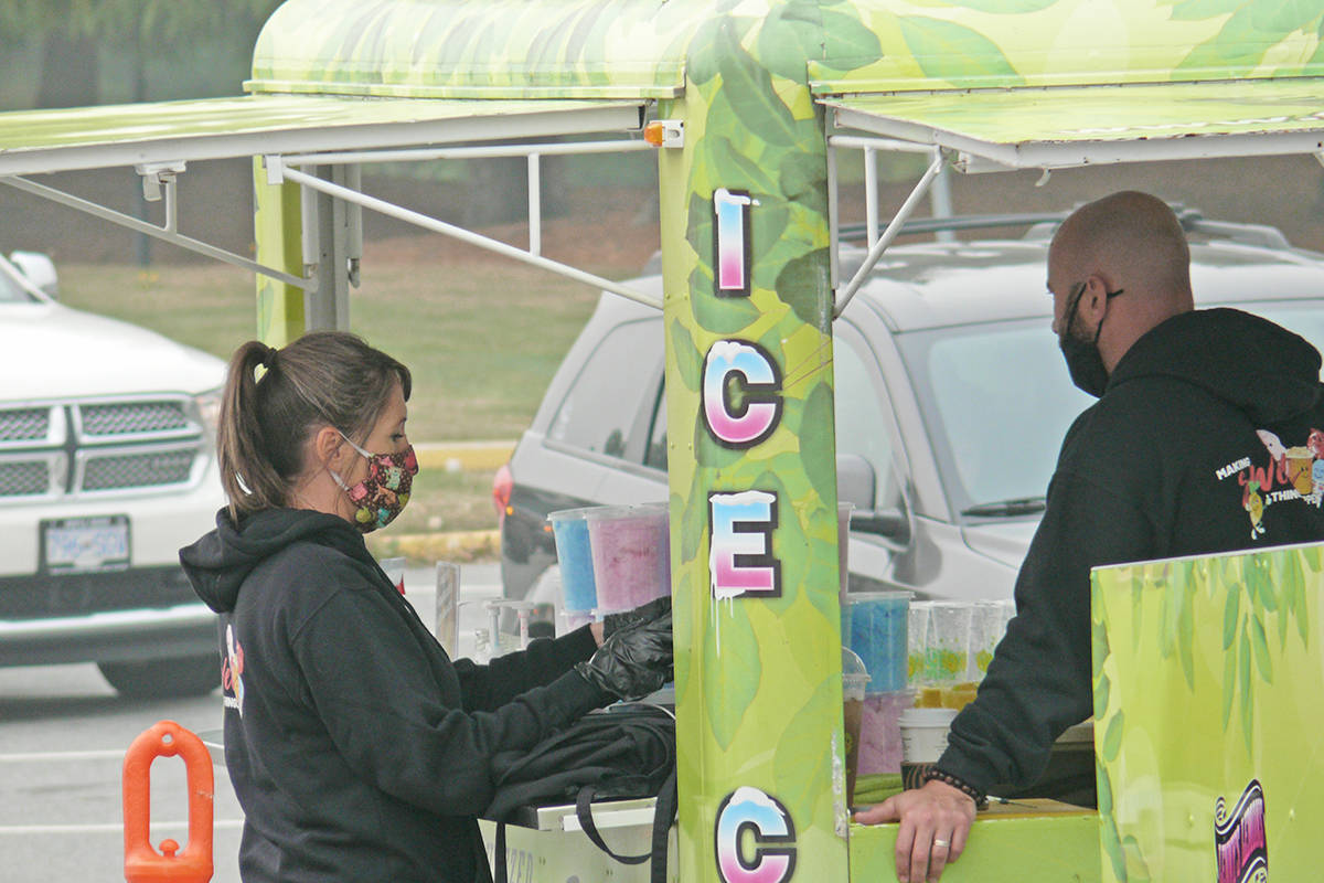 An estimated 1,000 vehicles attended the weekend drive-through version of the Greater Vancouver Food Truck Festival in Langley Sept. 12-13 (Dan Ferguson/Langley Advance Times)