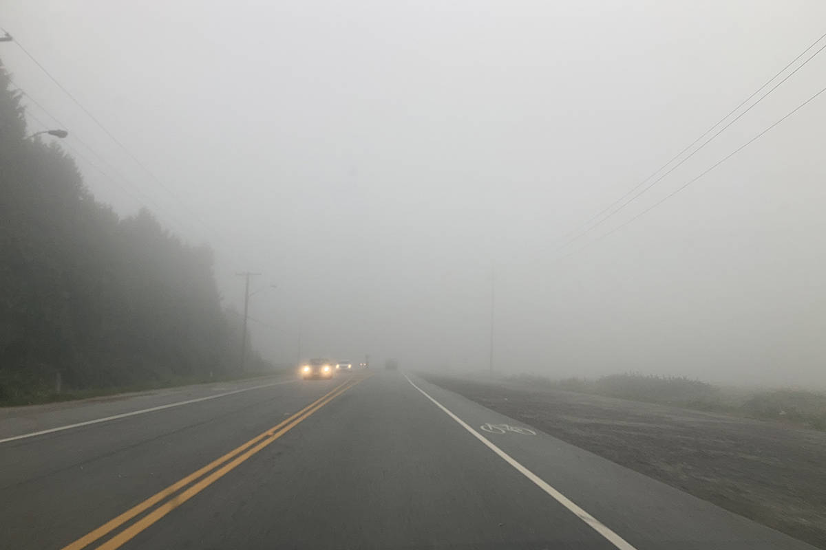 Smoke from U.S. wildfires blankets parts of Surrey on Monday, Sept. 14, 2020. (Black Press Media files)
