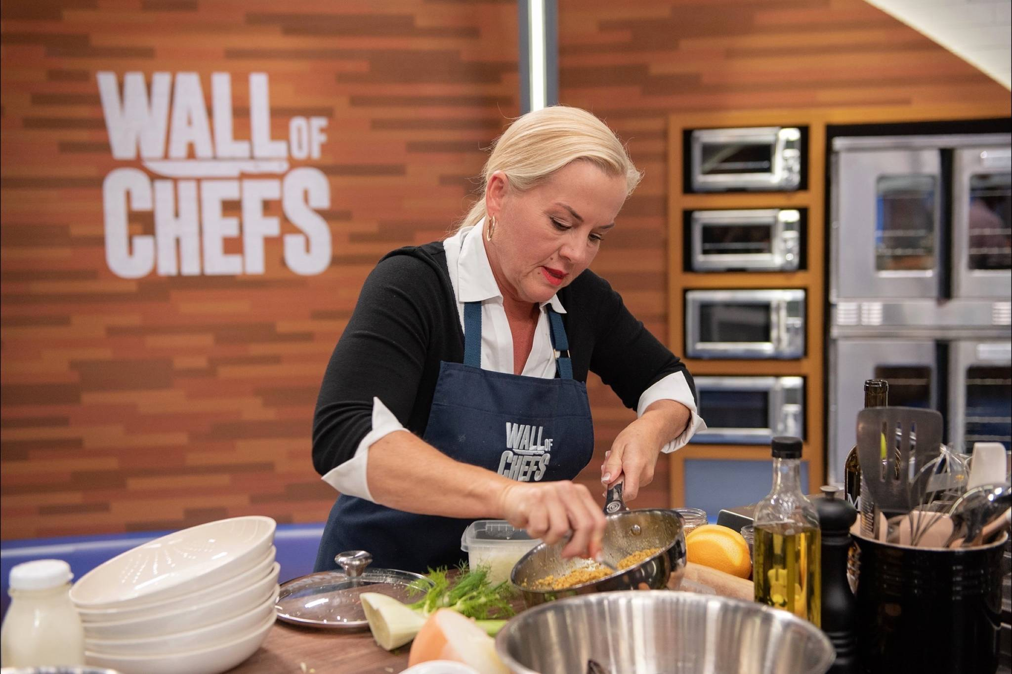 Former MasterChef contestant and home cook Tammy Wood is seen here competing on Wall of Chefs for Food Network Canada. The episode featuring the Agassiz chef will air on Tuesday, September 15, at 7 p.m. PST. (Contributed Photo/Sossy Outdoors)