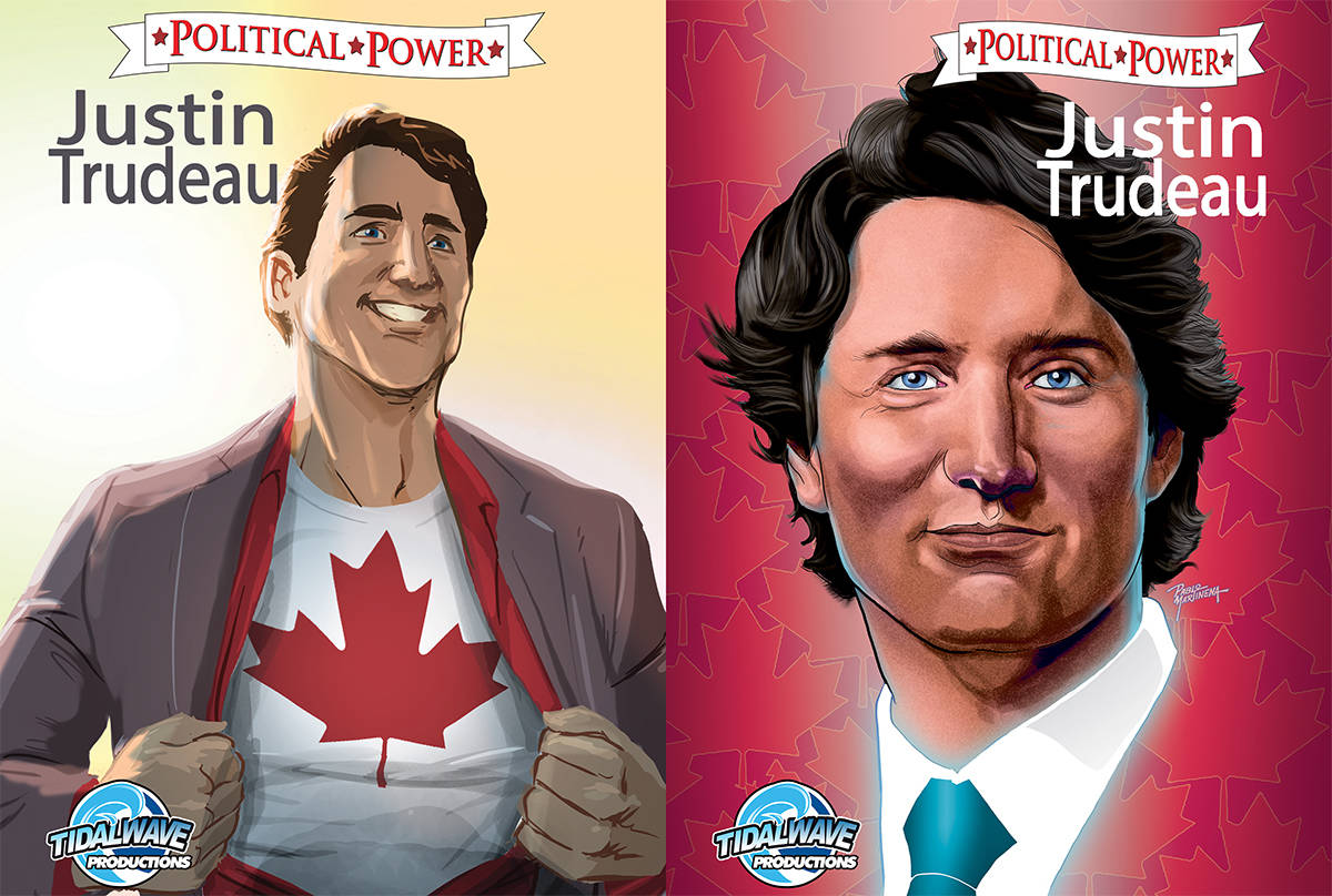 Prime Minister Justin Trudeau to appear in latest comic book by TidalWave Productions, out Sept. 16, 2020. (TidalWave Productions handout)