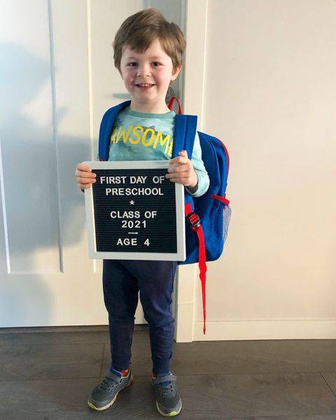 Jaxon Nelson began his first day of pre-school in Aldergrove (Kaelin Zebrowski Nelson/Special to the Langley Advance Times)