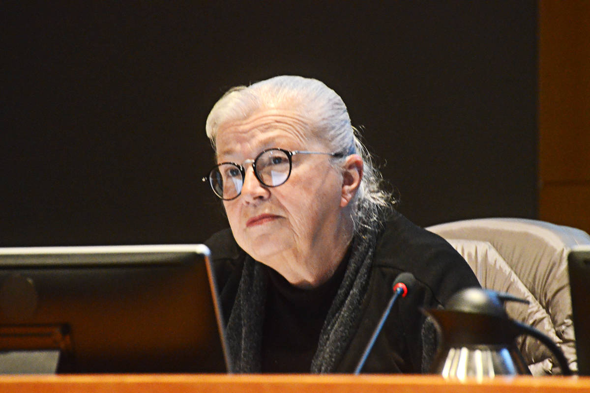 Councillor Kim Richter called for a two per cent cap on tax increases, as Langley Township council faced an increase of between four and 9.7 per cent as the budget process began on Monday, Jan. 20. (Matthew Claxton/Langley Advance Times)