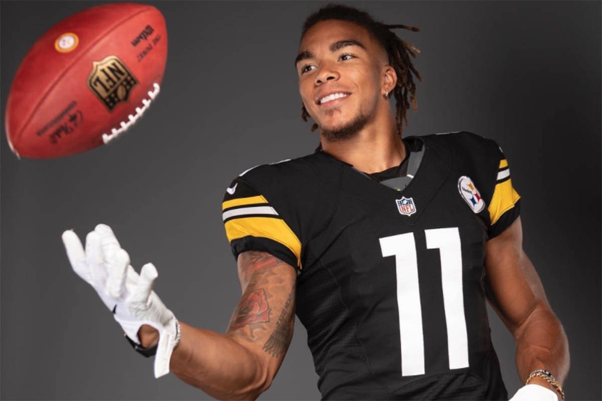 Chase Claypool made his NFL debut Monday, Sept. 14 with the Pittsburgh Steelers (Pittsburgh Steelers Twitter image)