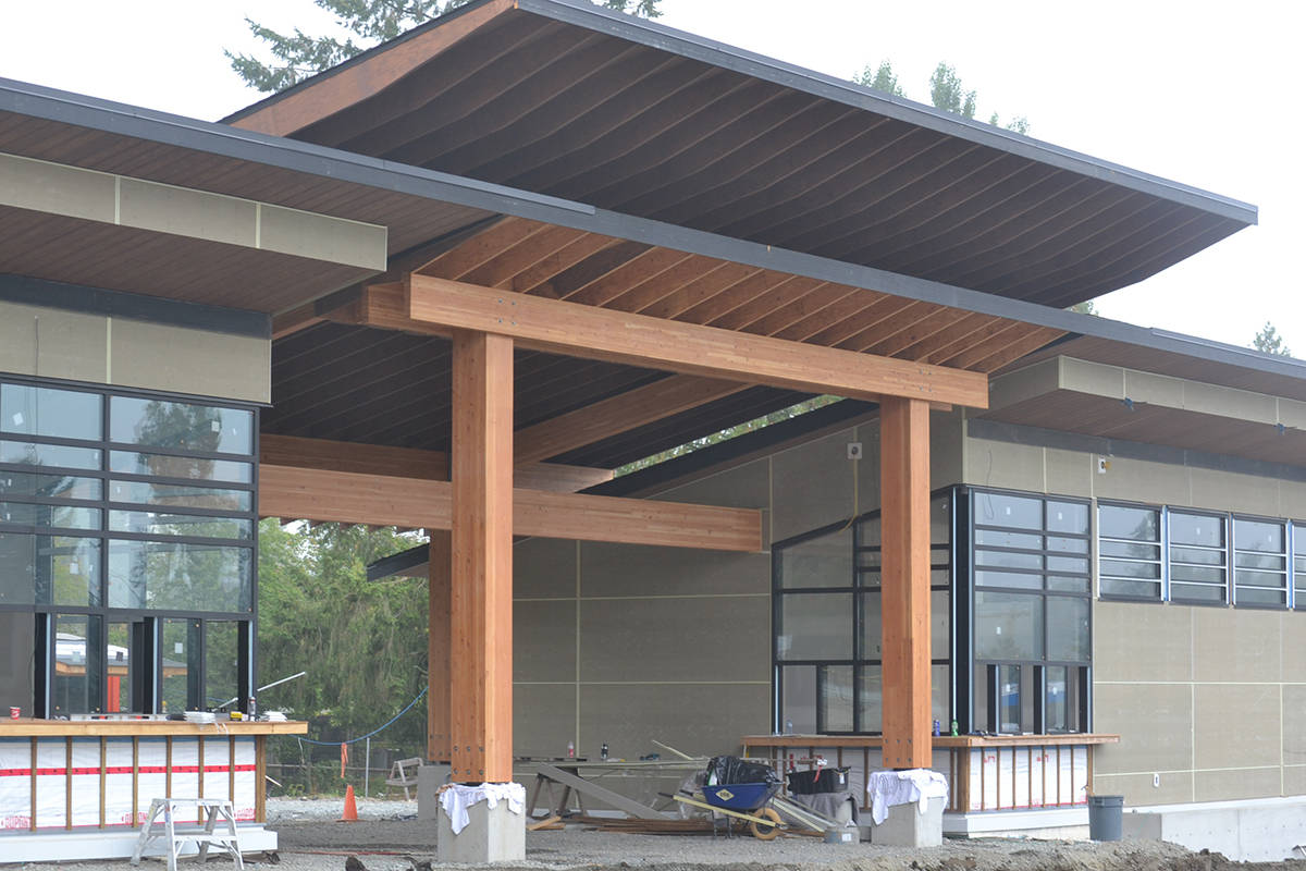 A new entryway and gift shop is going up at the Greater Vancouver Zoo. (Ryan Uytdewilligen/Aldergrove Star)