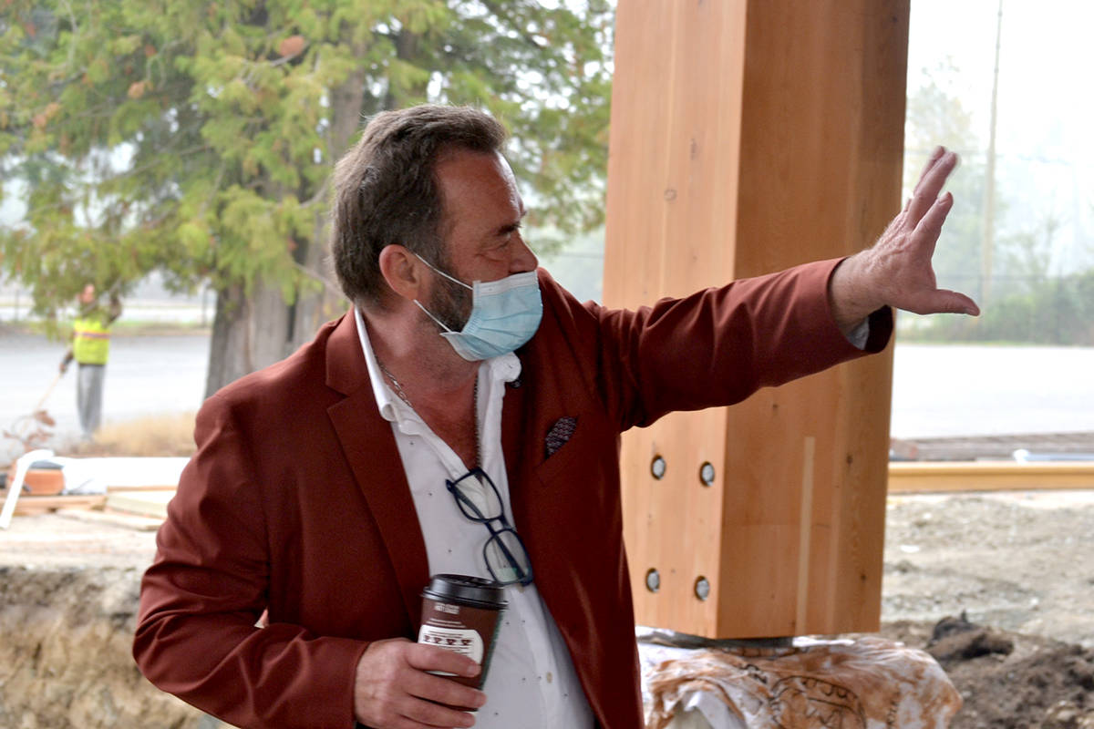 General Manager Serge Lussier gives a tour of the new facilities going up at the Greater Vancouver Zoo. (Ryan Uytdewilligen/Aldergrove Star)