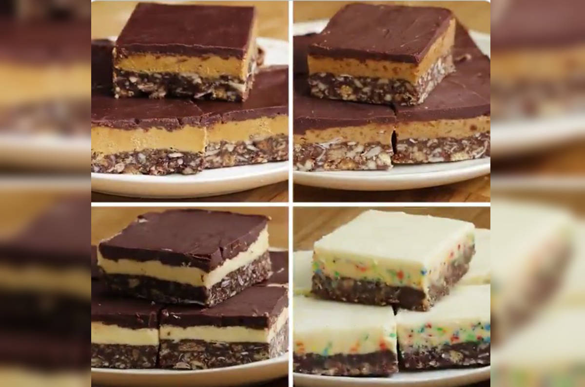 Nanaimo Bars, four different ways (Tasty screenshot)