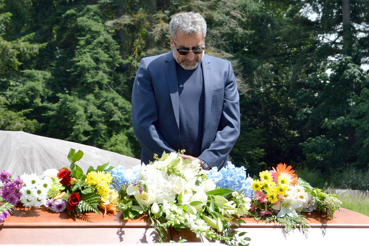 Dyako Ebrahimian held a funeral for his daughter, Medea (Befrin), one of three people found dead at a house fire in a quiet Langley neighbourhood this summer. His son, Kia, was later charged and is now before the courts. (Langley Advance Times files)