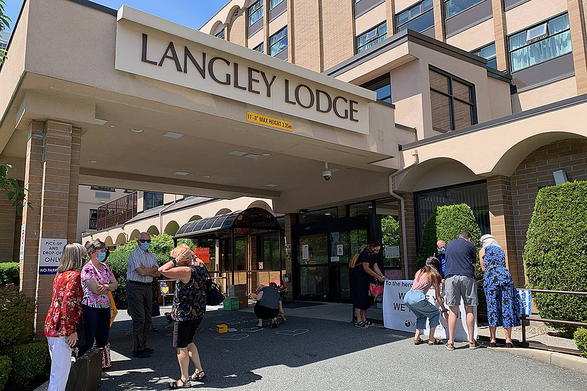 A team of volunteers from North Langley Community Church dropped by Langley Lodge during the outbreak to say thanks to frontline workers for all they did during the long-term care centre's COVID outbreak. (Special to Langley Advance Times)