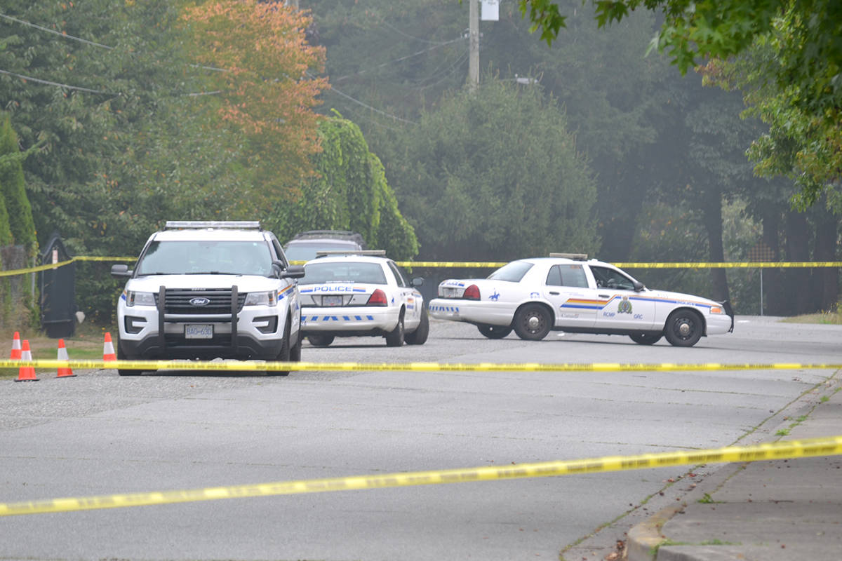 Langley RCMP are investigating an early morning incident where shots were fired in the neighbourhood of Brookswood in the area of 212th Street and 42nd Avenue. (Ryan Uytdewilligen/Black Press Media)