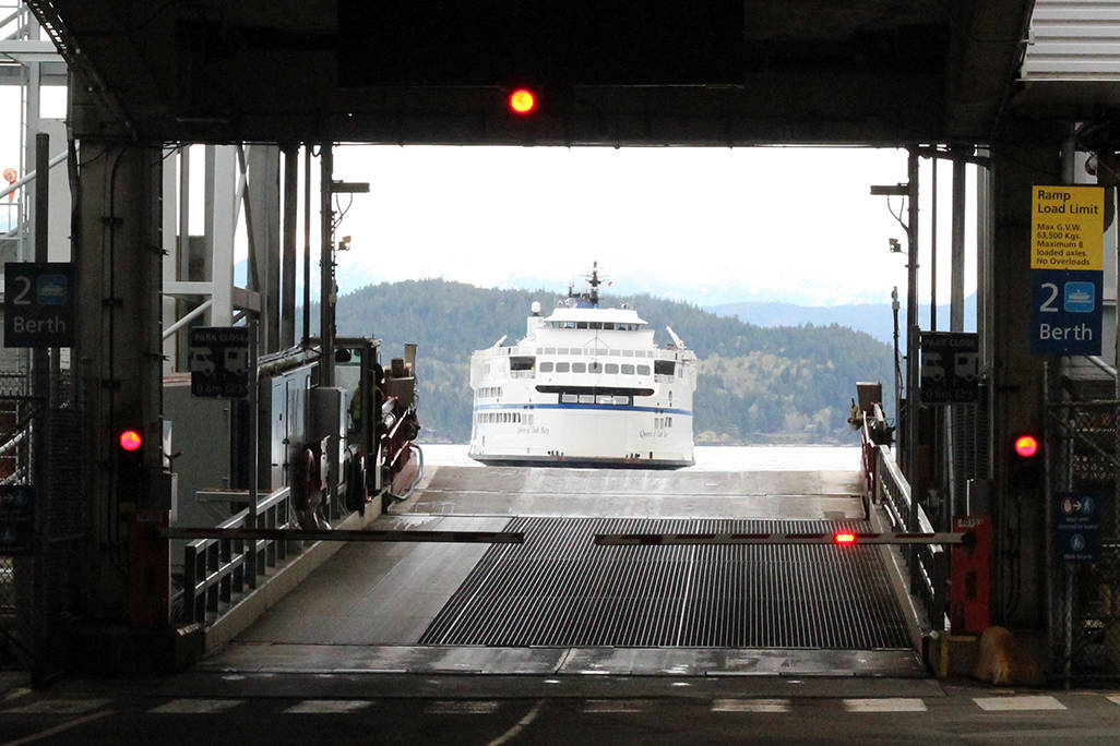 The BC Ferries vessel the Queen of Oak Bay, seen from Horseshoe Bay terminal. (News Bulletin file photo)
