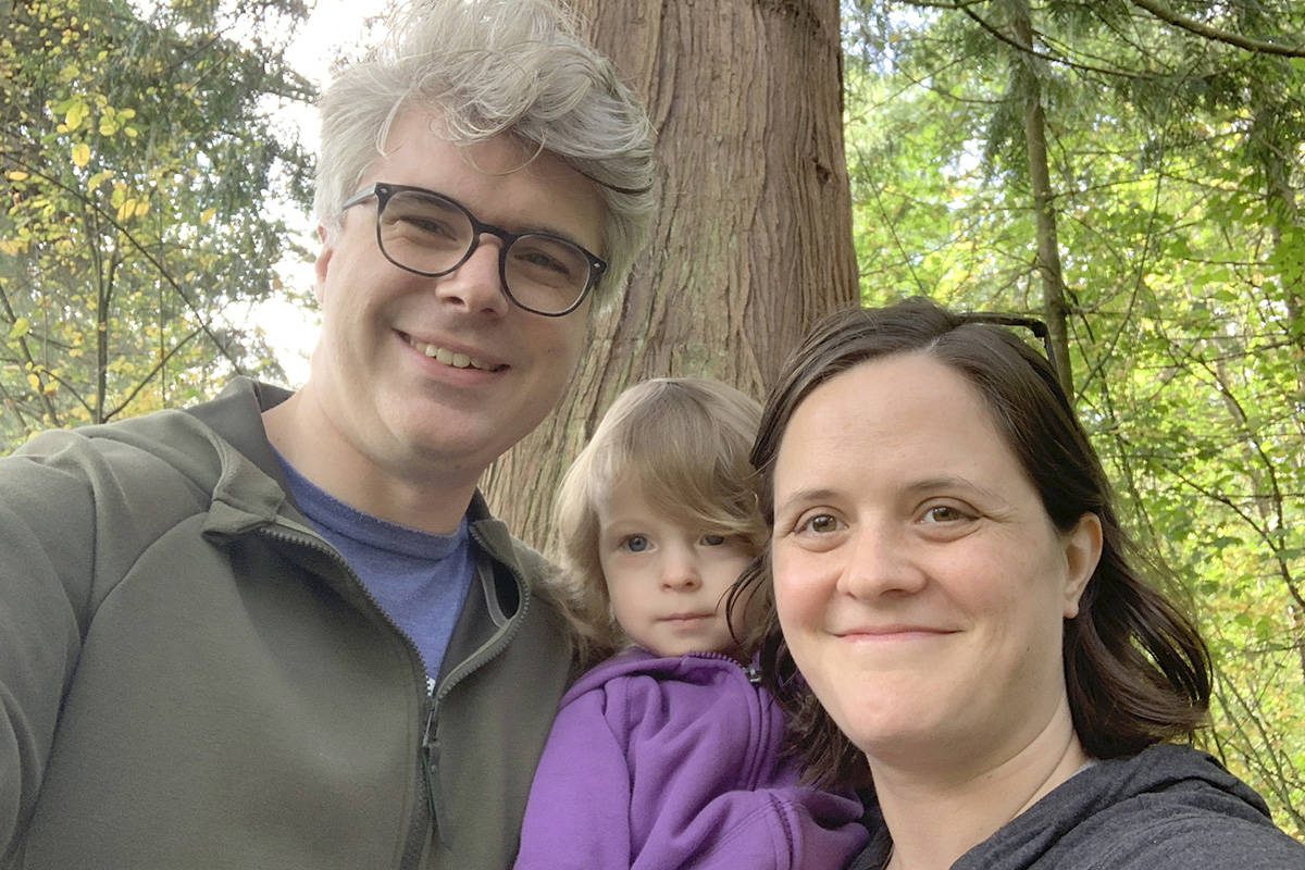 Andrew Mercier, with daughter Charlotte and wife Kate, has announced a run in the upcoming provincial election for the NDP. (NDP)