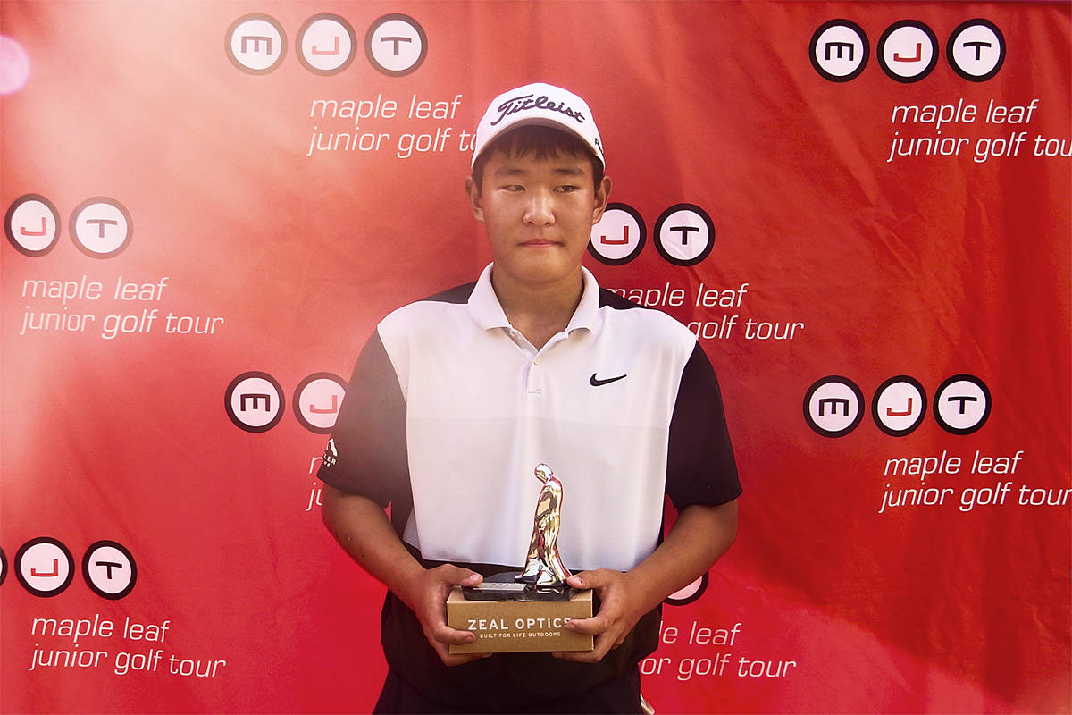 Danny Im inched out victory in the MJT Juvenile Boys Division on the Sept. 19-20, 2020 weekend. The Langley golfer fired 67 and 76 to win the title by one stroke (Special to Langley Advance Times)