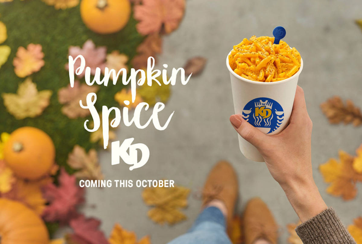 Kraft Dinner launches new Pumpkin Spice KD in October 2020. (Kraft Heinz Canada)