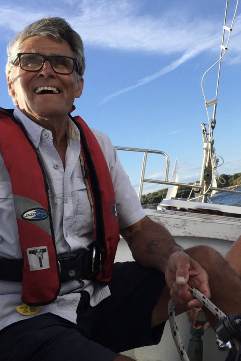 A photo of Glenn Wakefield posted on his blog by his family on Sept. 17, the day the U.S. Coast Gaurd rescued him. (glennwakefieldaroundtheworld.com)