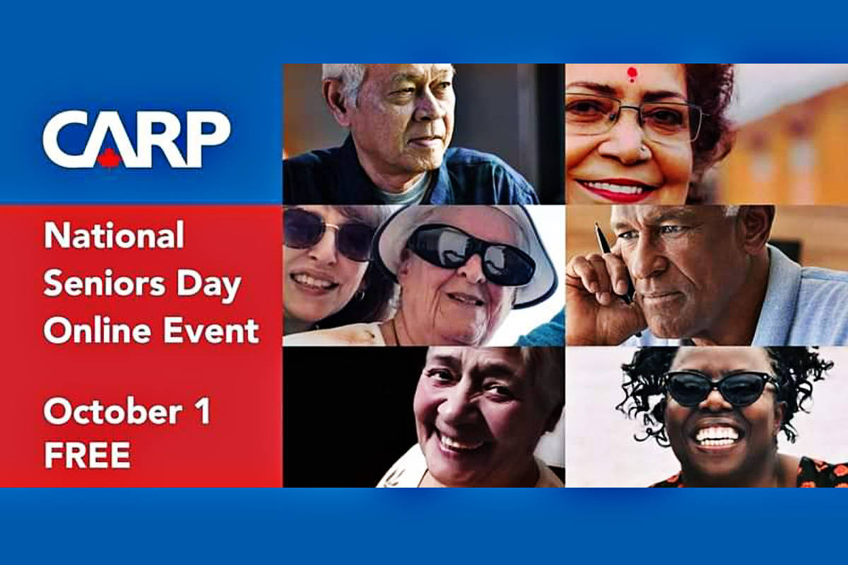 The Canadian Association of Retired Persons is marking National Seniors Day with a virtual event.
