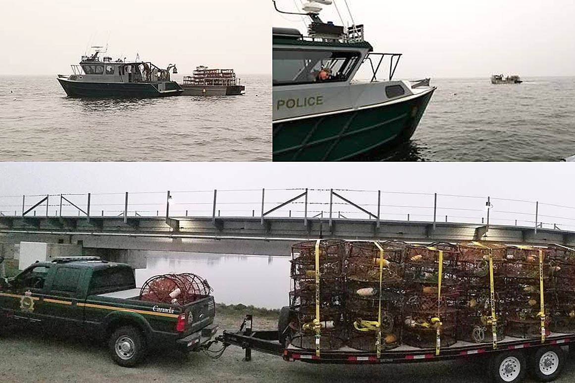 A three-day operation involving authorities from both Canada and the United States resulted in hundreds of illegal crab traps and other fishing gear being seized from U.S. waters earlier this month. (DFO photos)