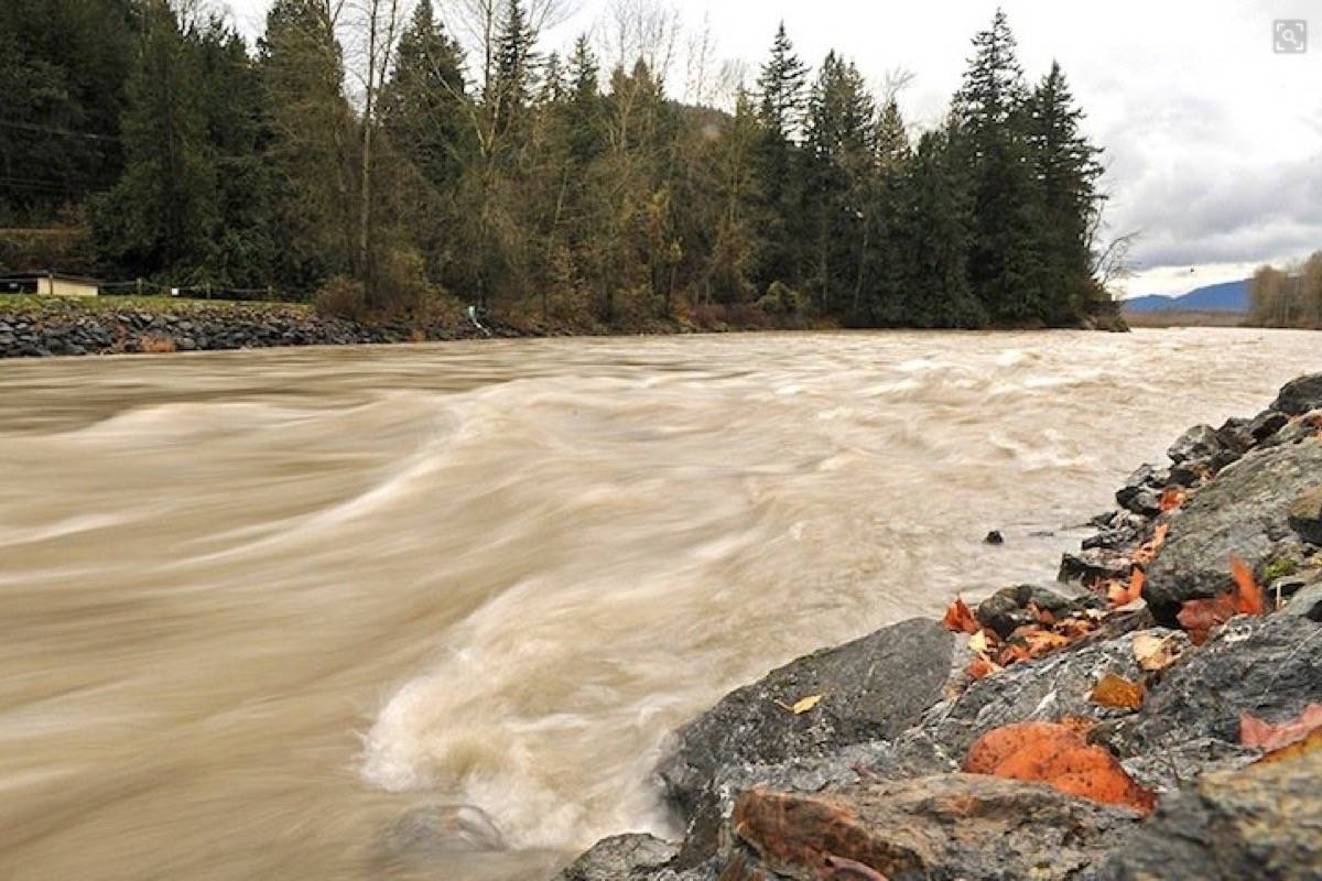A high streamflow advisory was issued Sept. 23, 2020 for the Chilliwack River (seen here Nov. 24, 2017) and other rivers and tributaries across B.C.. (Jennifer Feinberg/The Chilliwack Progress file)