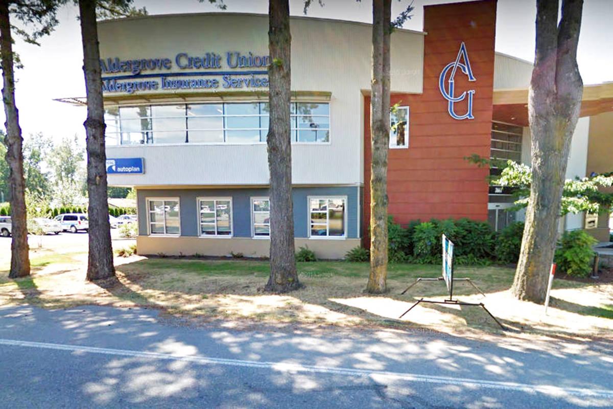 Aldergrove Credit Union branch. (Aldergrove Star files)