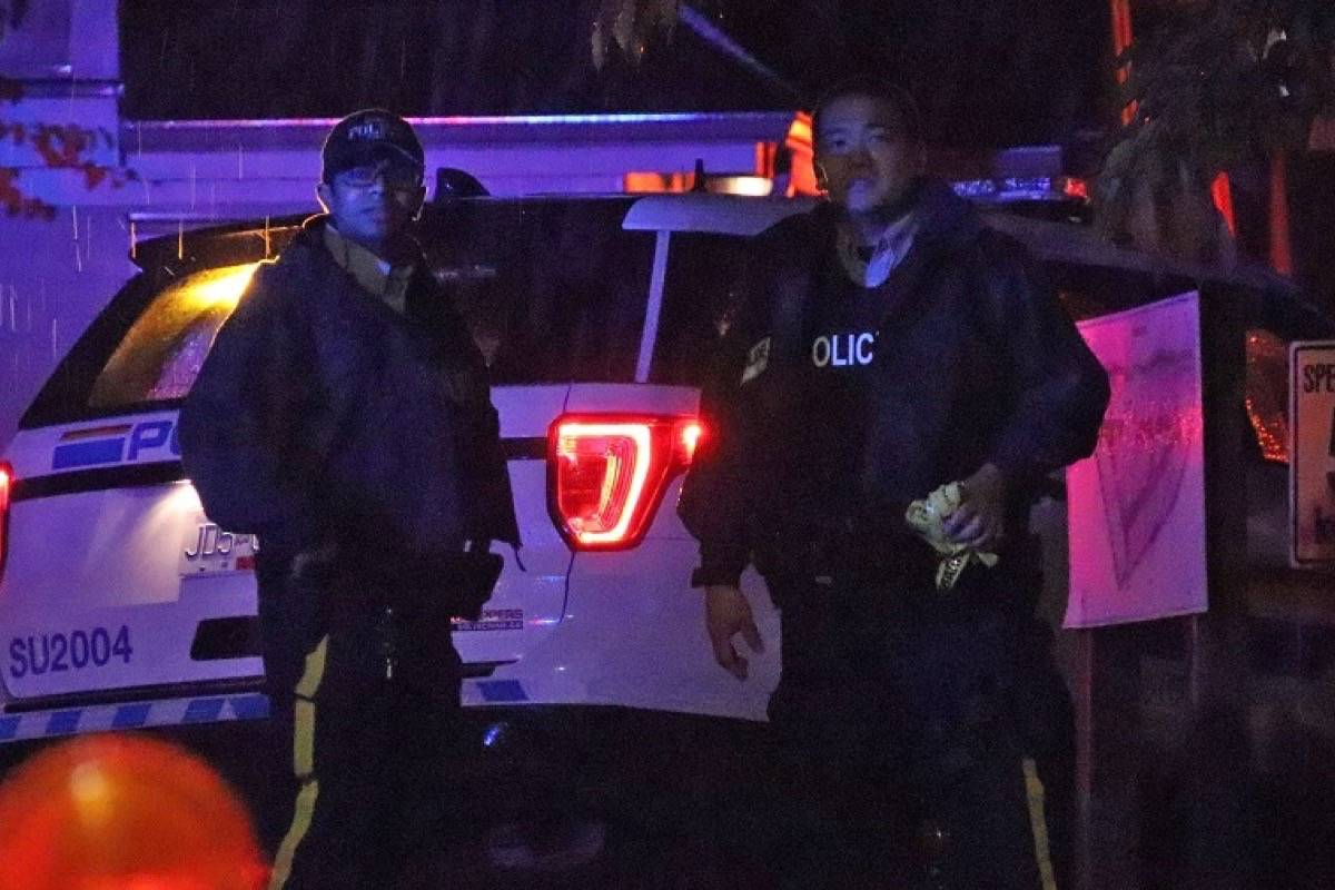 RCMP were in the 19000-block of 64 Avenue Thursday (Sept. 24) evening. (Shane MacKichan/Special to Black Press Media)