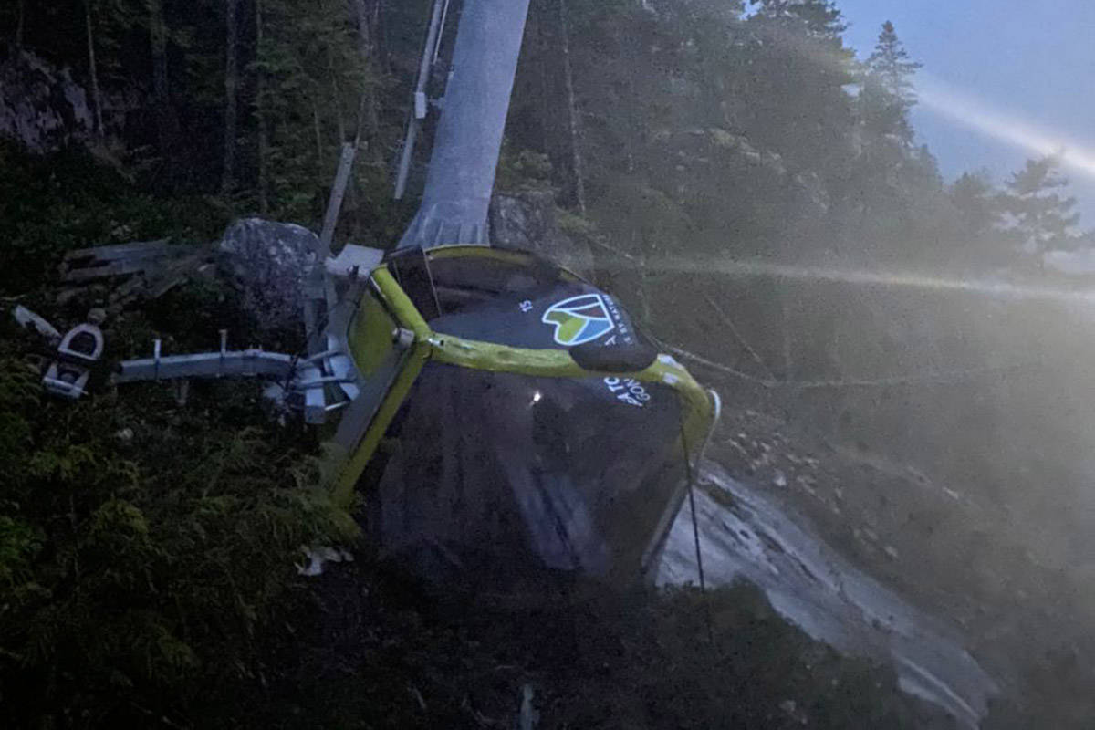 The Sea to Sky gondola had its wires cut on the night of Sunday, Sept. 13, 2020. (RCMP handout)