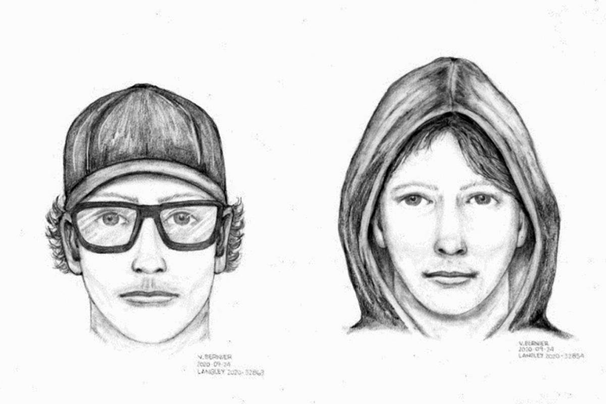 """The suspect in two indecent exposure incidents in Langley on Sept 21-22, 2020 is described as a Caucasian male, in his early 20's, 5'6"""" to 5'9"""" tall, slim build with dark hair, and carrying a black backpack. (RCMP)"""
