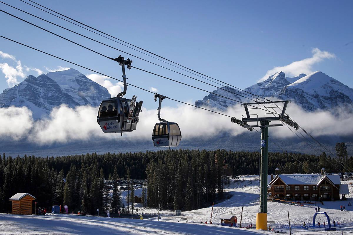 FILE – Gondolas at Lake Louise ski resort in Lake Louise, Alta., Saturday, Nov. 24, 2018. THE CANADIAN PRESS/Jeff McIntosh