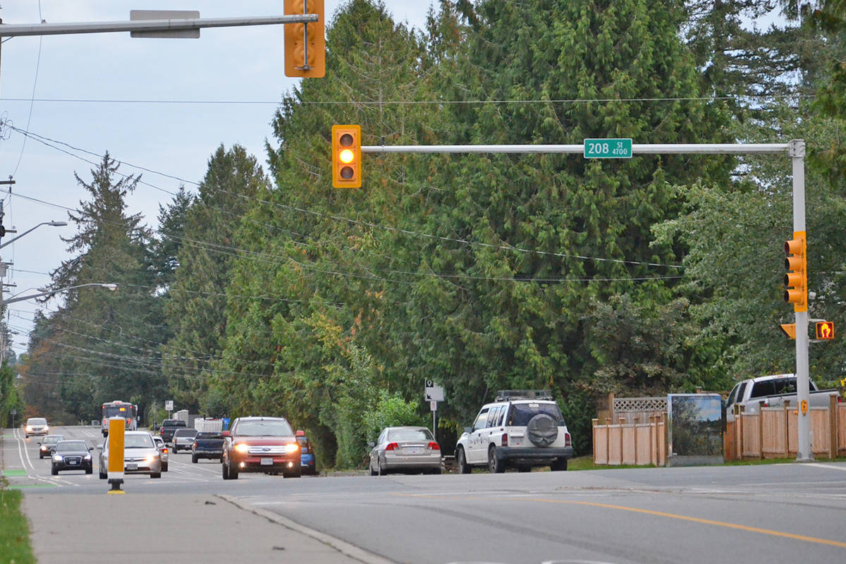 Another local resident is expressing concern about traffic in the area of 208th Street and 48th Avenue, in response to a recent letter to the editor. (Heather Colpitts/Langley Advance Times)