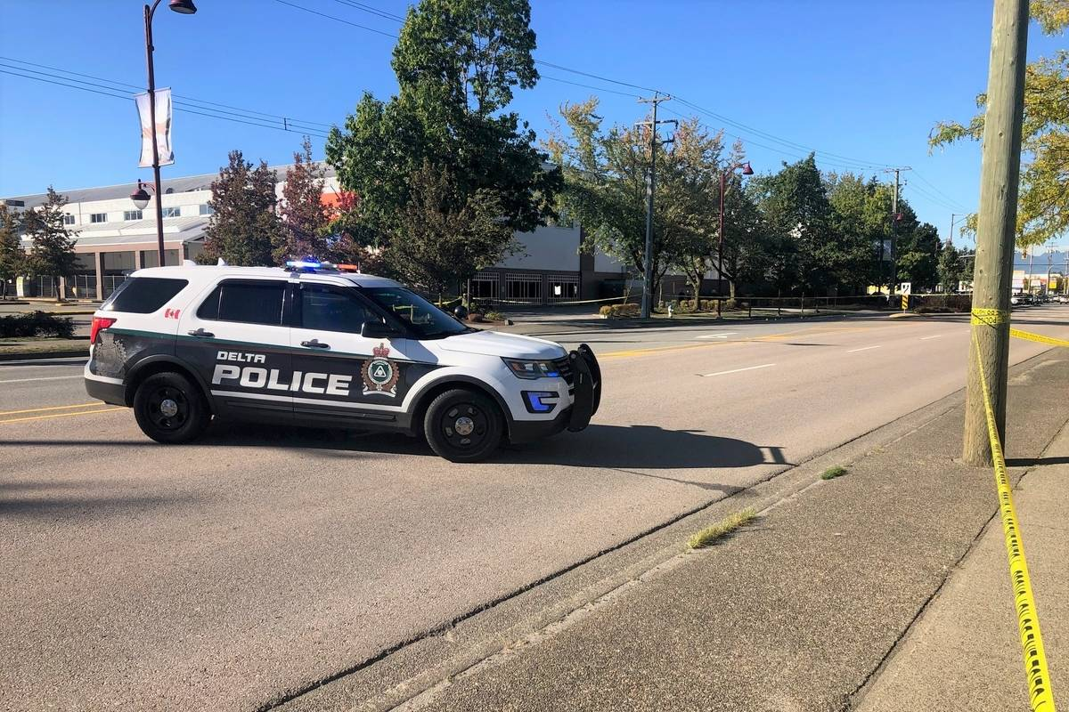Police are investigating an apparent drive-by shooting in North Delta on Monday afternoon (Sept. 28). (Dal Hothi photo)