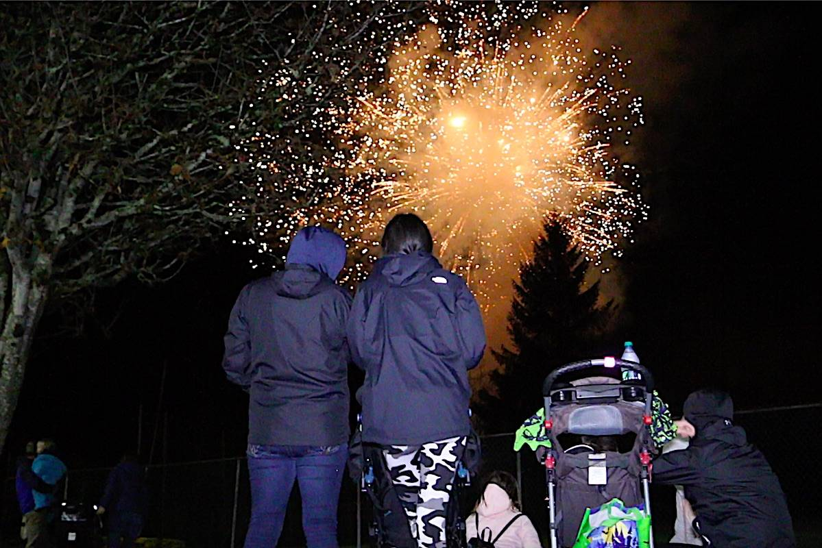 Fireworks ended the night at Halloween Fest 2019. (Jenna Cocullo / The Northern View)