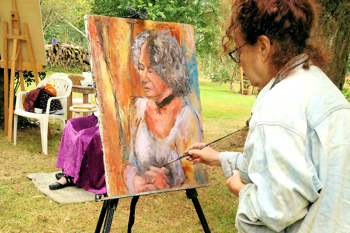 Art in the Country holds special sessions on Saturday, Oct. 3rd at 26864-16th Avenue, in the backyard of a private country studio. (Susan Gorris/Special to The Star)