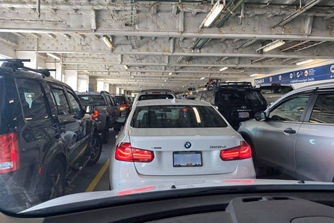 BC Ferries passengers in lower vehicle decks will again have to leave their cars as Transport Canada reimposes safety regulations. (Black Press Media file photo)