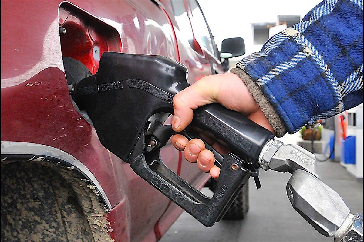 B.C.'s carbon tax is the highest in Canada, collected by businesses along with motor fuel tax, provincial sales tax and hotel tax. (Black Press Media)
