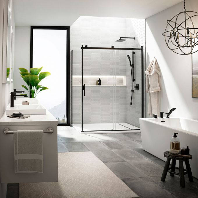Splashes Bath & Kitchen is proud to carry the Quebec brand Kalia, one of the companies leading the innovation for matte black bathroom fixtures.