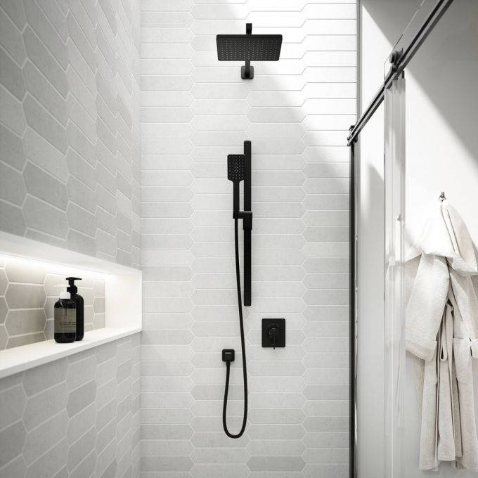 Black matte fixtures are a hot trend in 2020 home decor. Visit a Splashes showroom to learn more!