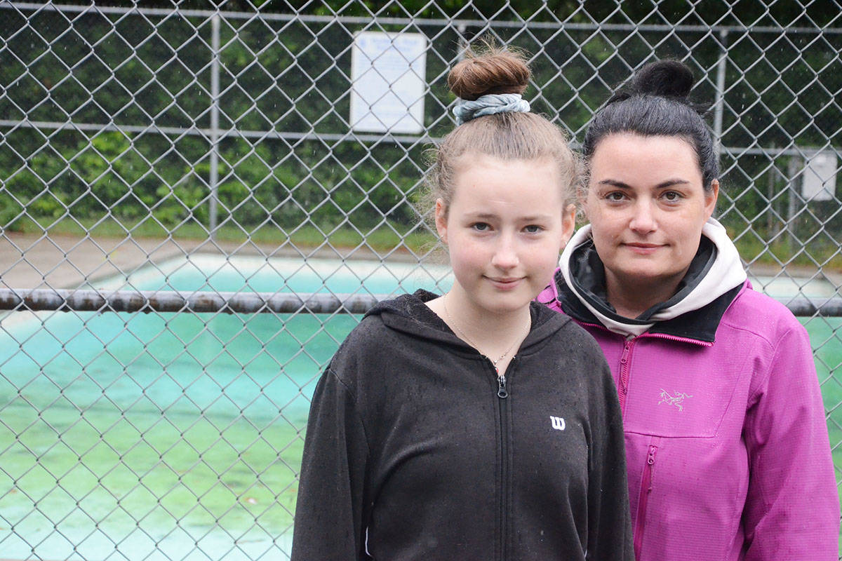 Nora Cashato, 12, organized a petition to preserve the Fort Langley Outdoor Pool after she learned about its coming closure from her mother, Rachelle. (Matthew Claxton/Langley Advance Times)