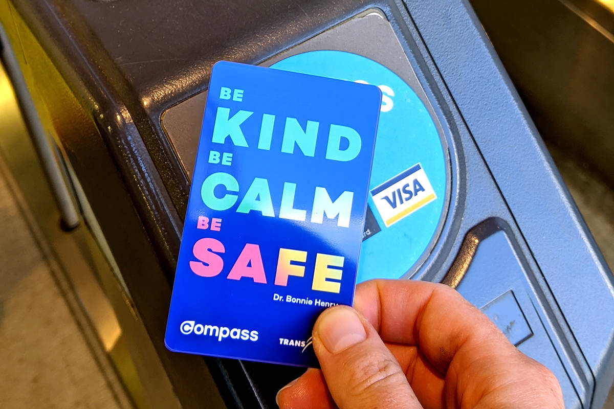 A limited edition Dr. Bonnie Henry Compass card produced for Metro Vancouver commuters. (TransLink)