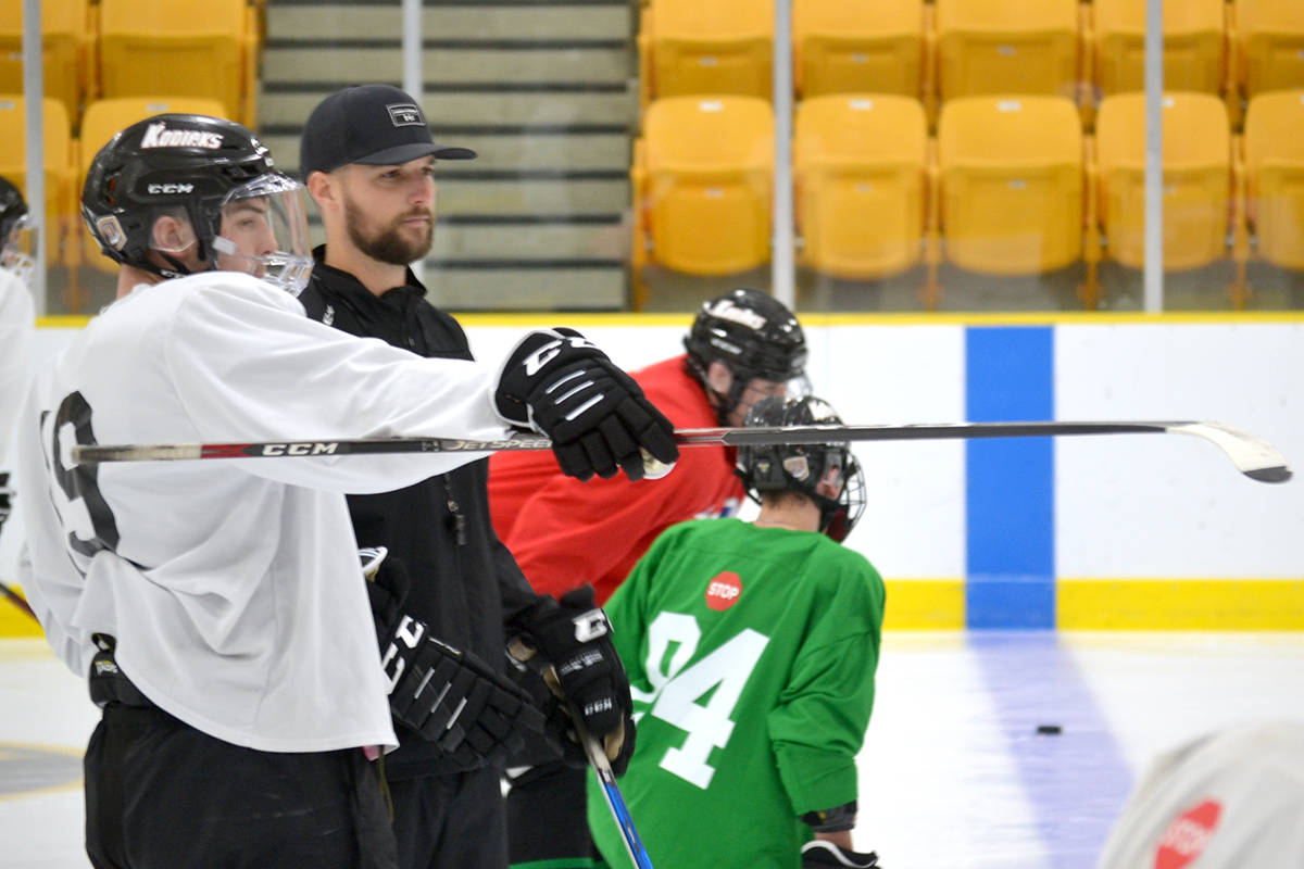 Aldergrove Kodiaks have hit the ice, practicing for their first 18 games in the Pacific Junior Hockey League season. (Ryan Uytdewilligen/Aldergrove Star)