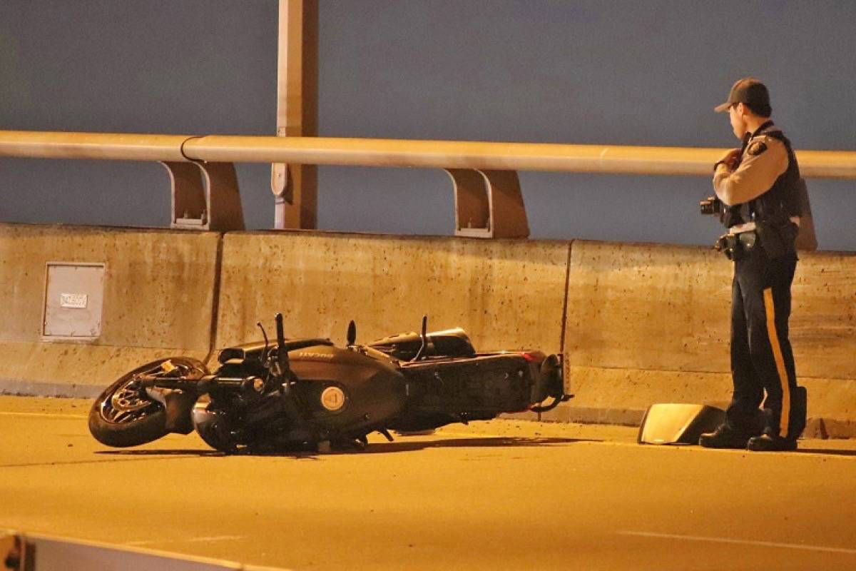 Police are investigating following a fatal crash on the Golden Ears Bridge Friday (Oct. 2). (Shane MacKichan photo)