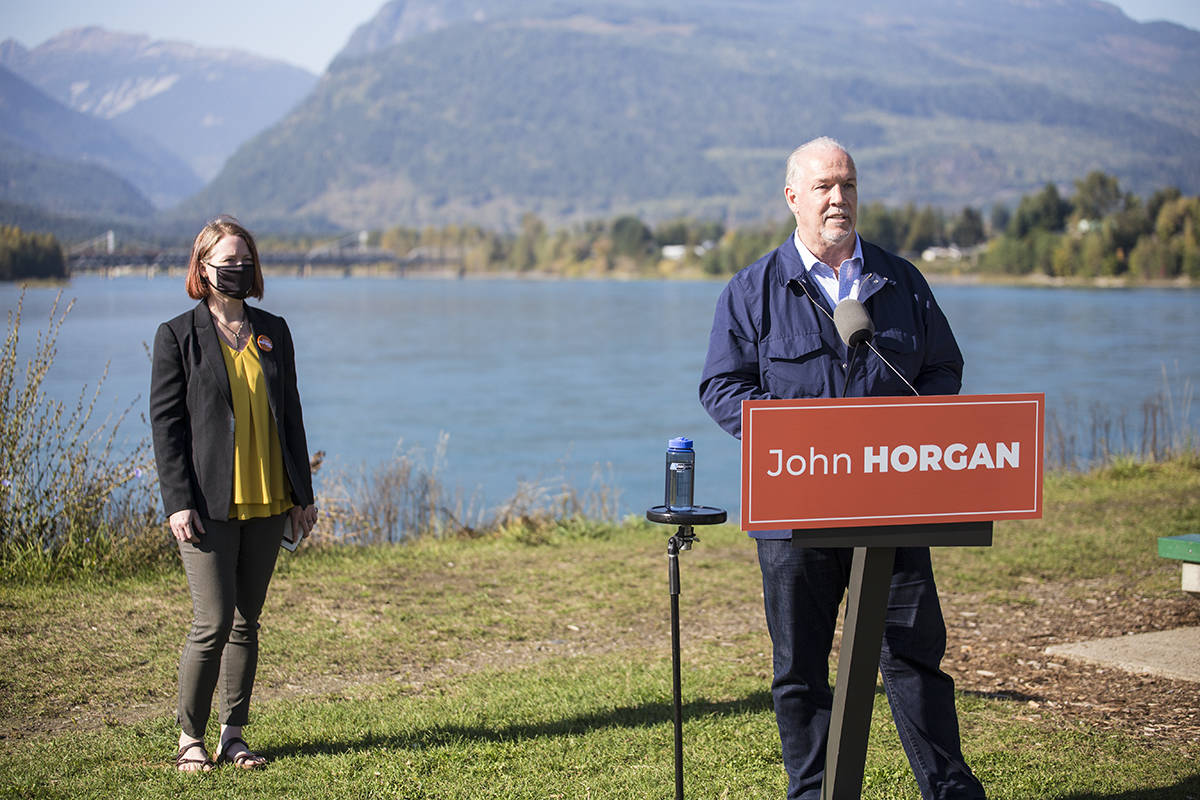 BC Votes 2020: Horgan talks mass timber, climate targets in visit to Revelstoke