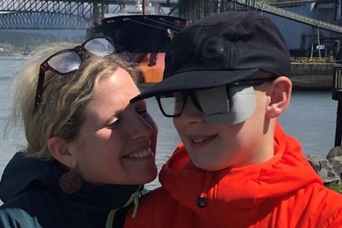 Kimberly Berger poses for a photo with her son, Jonah, 12, in this undated handout photo. Berger and her son travelled to Seattle, Wash., last February where he underwent proton beam therapy for a brain tumour at a private clinic. THE CANADIAN PRESS/HO, Kimberly Berger *MANDATORY CREDIT*