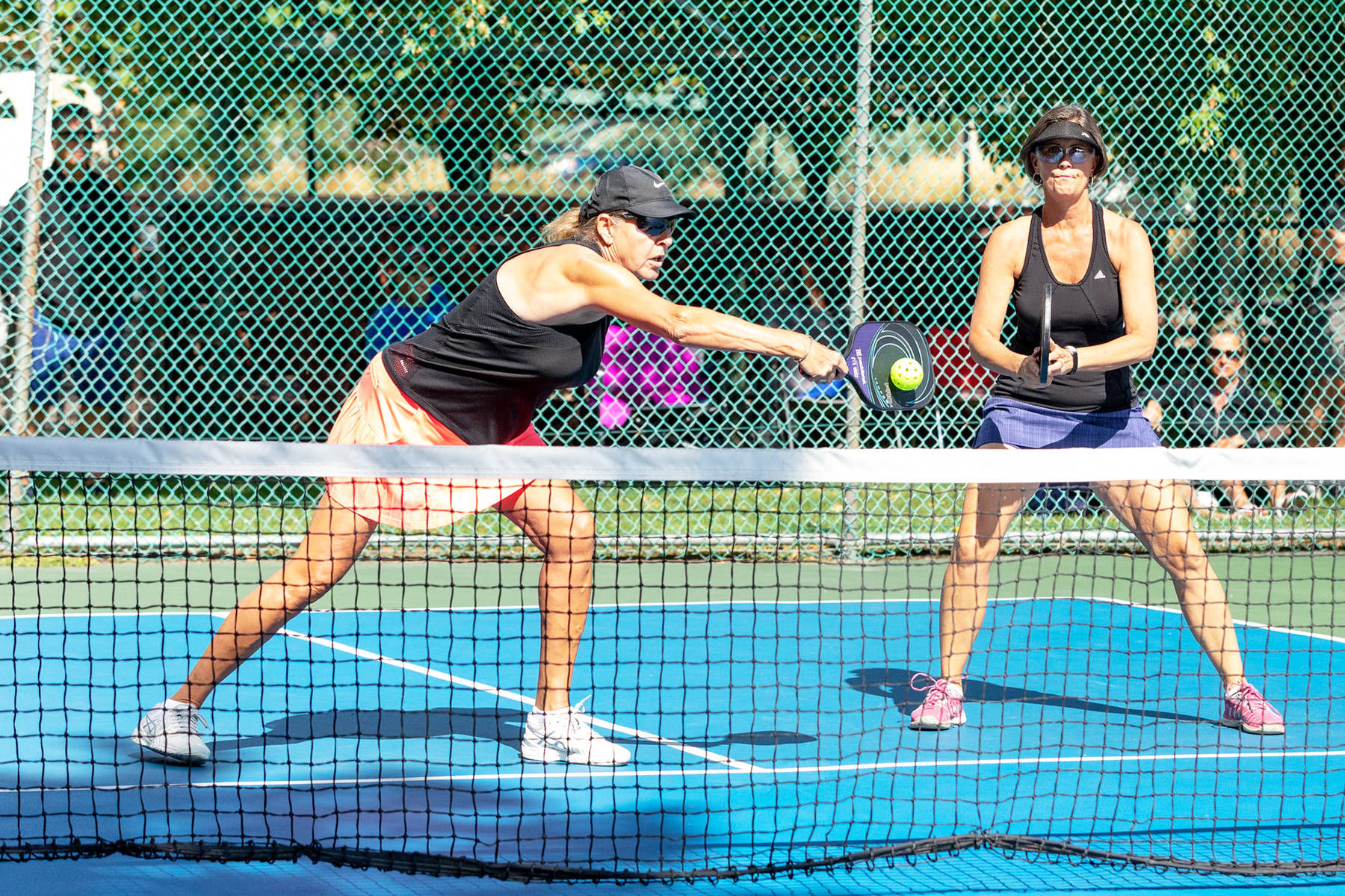 Pickleball action during the 2019 55+ B.C. Games in Kelowna. While the 2020 Games in Richmond were cancelled due to COVID-19, the Greater Victoria organizing committee has begun planning for hosting the 2021 competition next September. (Rosemary Kean/55+ BC Games Society)