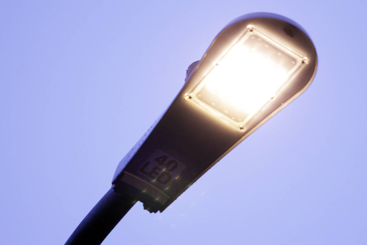 An LED streetlight. (Black Press Media files)