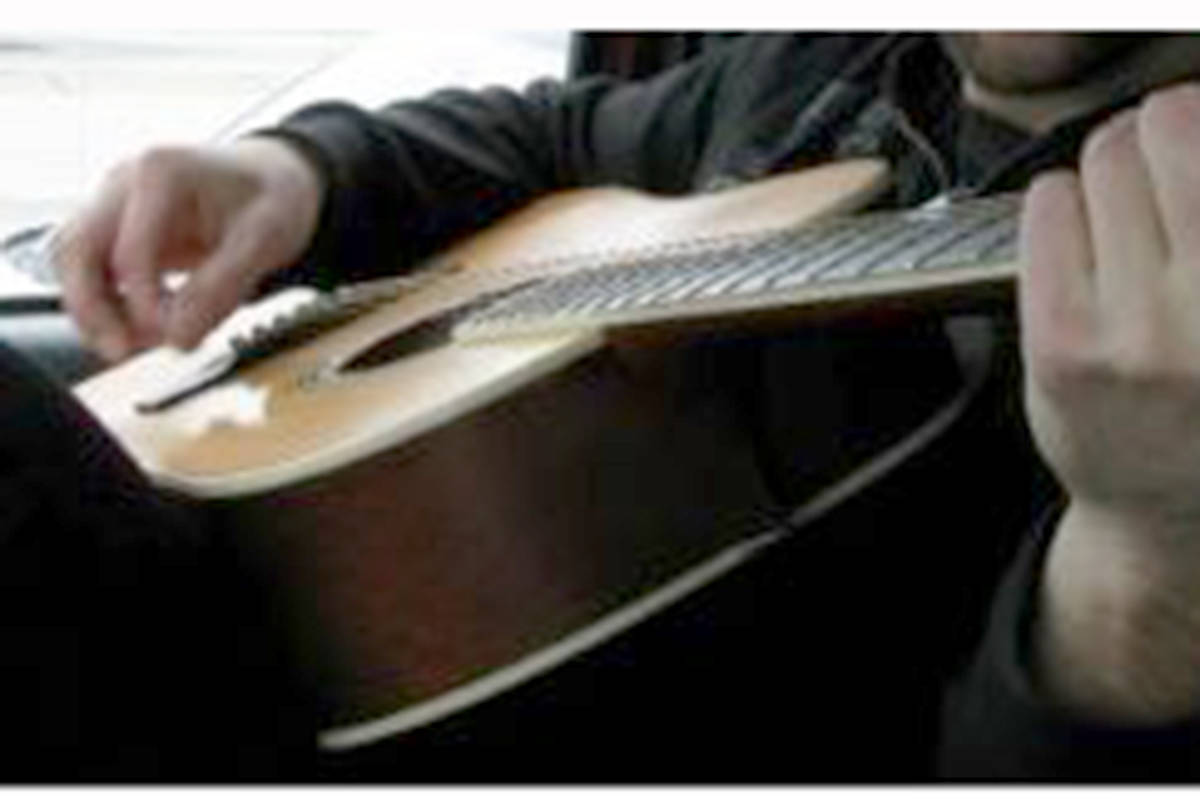 One of several guitars stolen from a South Langley home. (Langley RCMP)