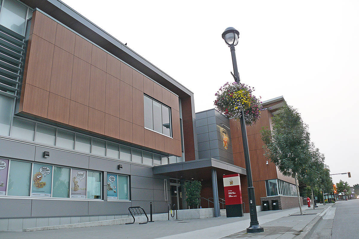 Langley City Hall and Timms Community Centre. (Langley Advance Times files)