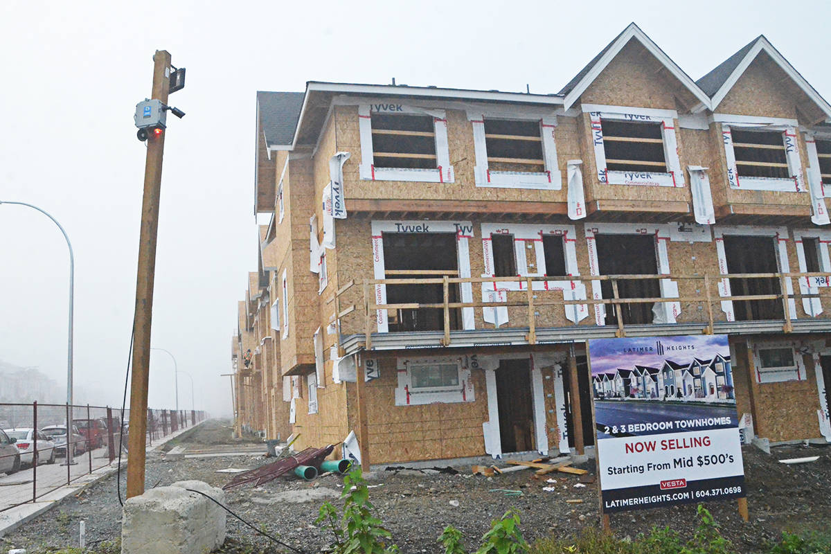 Townhouses under construction in Willoughby on Oct. 7, 2020. (Matthew Claxton/Langley Advance Times)