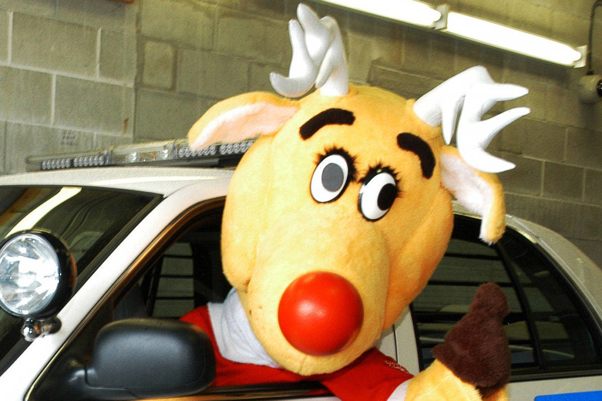 Rudy, the Operation Red Nose mascot. (Black Press Media files)