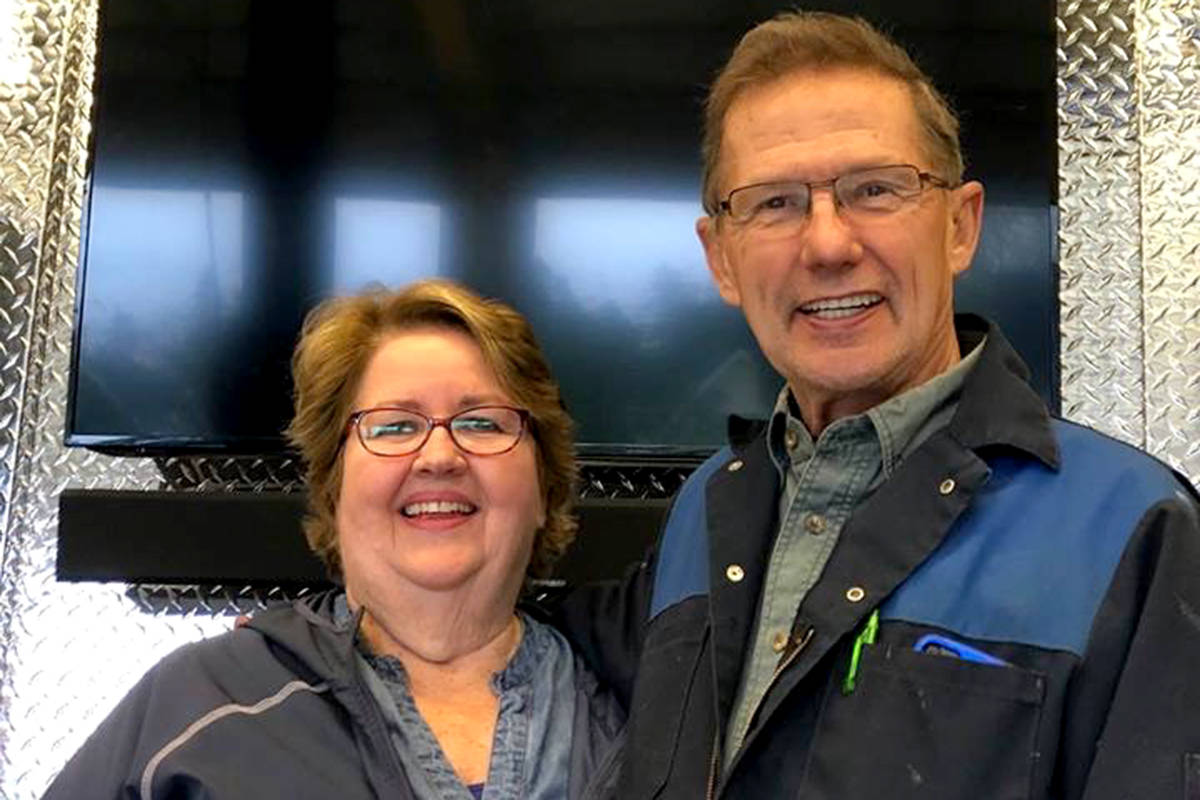 Ron and Peggy Bergen, a retired mechanic and his wife, are retiring from the Cars for Moms program with Acts of Kindness. (Anderline Bredy/Special to the Aldergrove Star)